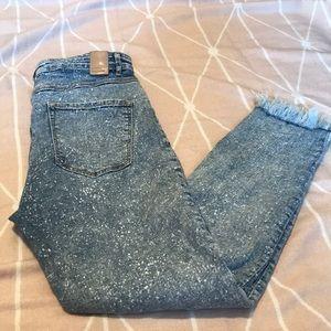 Zara ripped denim size 12